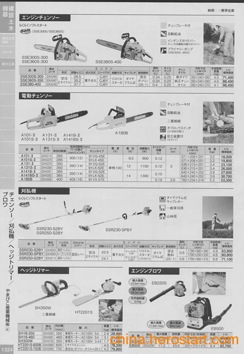 供应shindaiwa建築土木機器南京园太厂家清仓