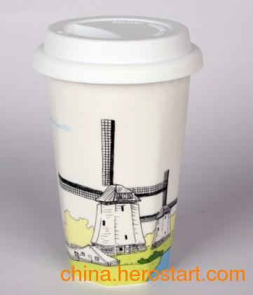 供应宝鸡陶瓷马克杯批发订做广告杯