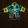 供应闪光表演演出服装闪光衣,led闪光服装光钎闪光服装,冷光线闪光服装