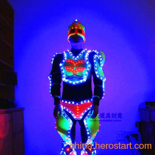 供应 发光表演演出服装发光衣服led发光服装光钎发光服装冷光线发光服装,