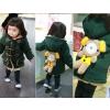 供应厂家直销 2012新款 韩版卡通熊 加棉加绒棉衣 中童