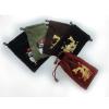 供应平绒绣花布袋 手机保护套 /学习机/MP4/MP5/相机保护套 通用型