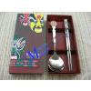 供应不锈钢餐具,北京礼品餐具国粹脸谱餐具勺筷两件套,环保促销礼品