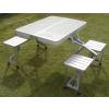 供应双十一广告四人桌 铝合金折叠便携桌