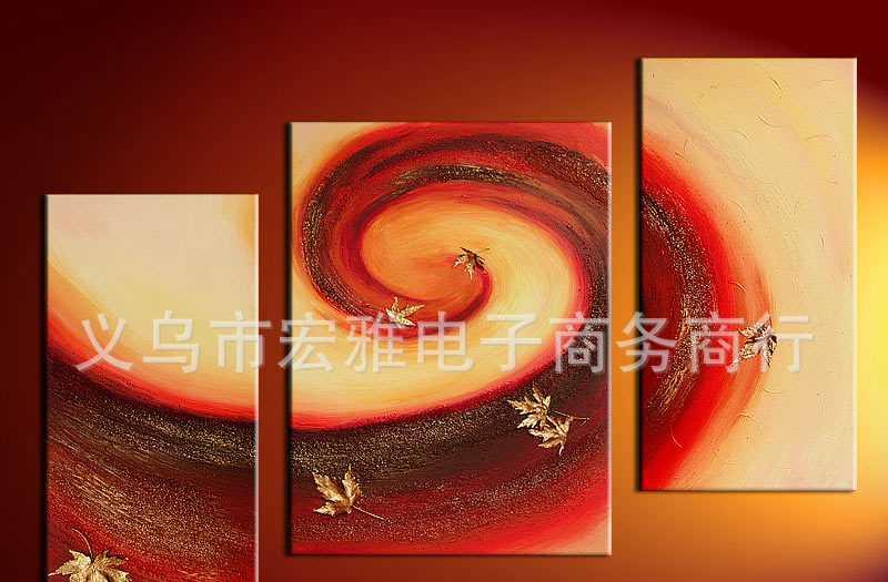 抽象画批发,现代组合抽象画,欧美风格装饰画,帆布油画