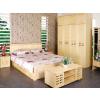 供应精致卧室松木家具、松木床床垫、松木衣柜