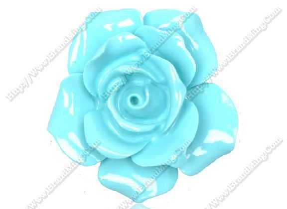 35mm薄茶花人造松石玫瑰花珊瑚玫瑰花雕刻玫瑰花饰品