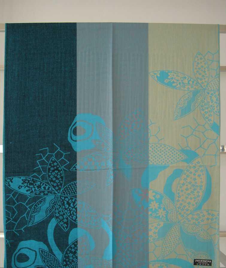 2012新款围巾丝巾披肩人棉叶子花围巾独特三色块围巾