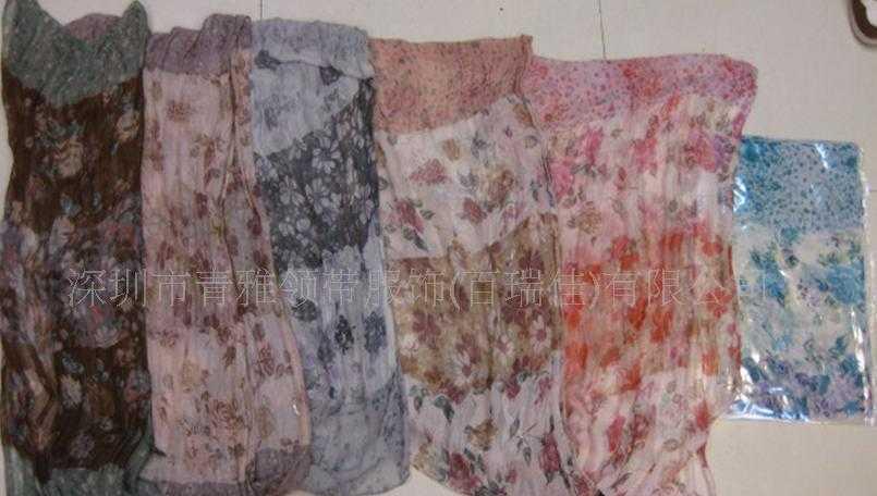 供应雪纺印花围巾 流苏丝巾新款设计手工制做时尚大方