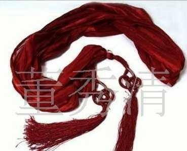 生产供应中国结丝巾 手挽结印花中长丝巾