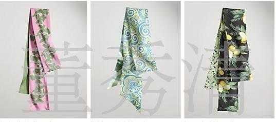 小方巾真丝丝巾,小方格领巾,流苏真丝棉大头巾