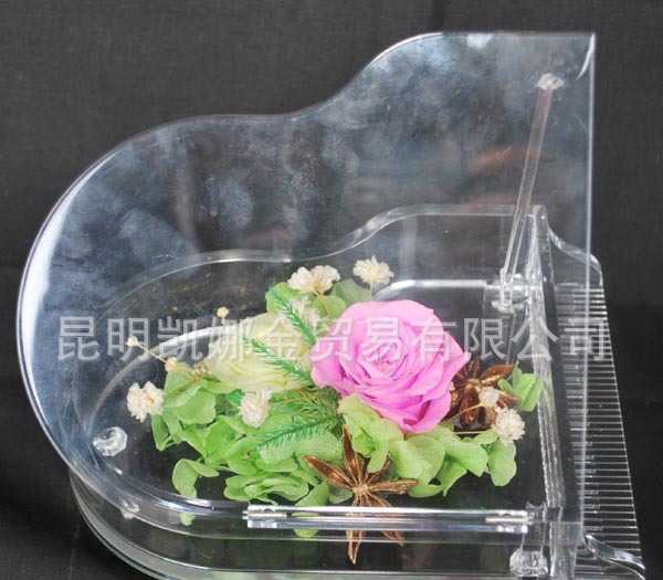厂家直销精美情侣礼品真空保鲜花工艺品 10个起批