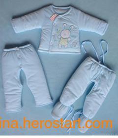 供应利婴LY-1020纯棉婴儿服装  优质婴儿服装厂家