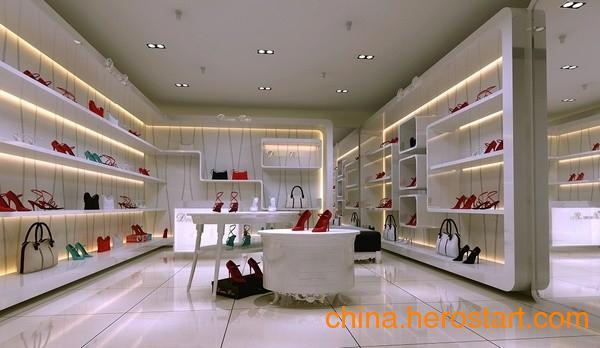 供应武汉商场木制鞋架柜台设计定做