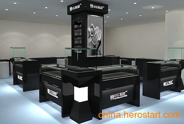 供应武汉商场玻璃展示柜设计定做安装