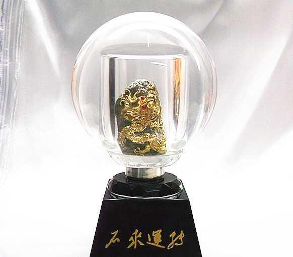 【漆线雕新品】 金石水晶球 现代与传统结合艺术品精品