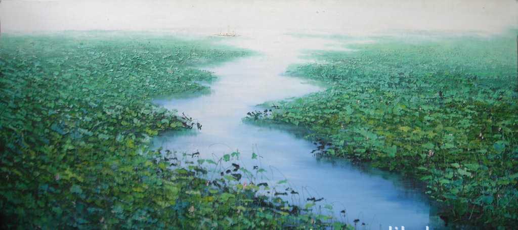 供应原创精美装饰作品兼油画国画水彩画 原创手绘风景