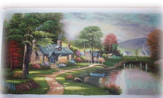 供应油画,抽象画,无框装饰画,欧式油画,欧洲风景画