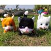 供应厂家直销 电动猫 电动毛绒玩具 电动猫咪 会叫眼睛会亮 尾巴会动