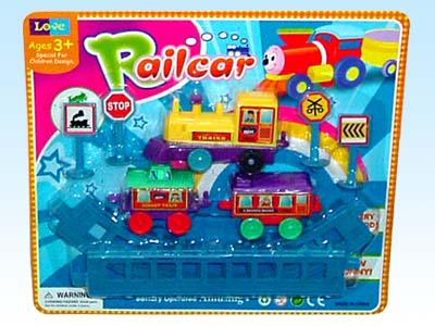供应玩具电动拼装轨道火车2602