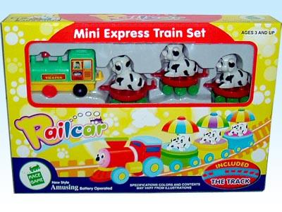 供应玩具电动拼装动物轨道火车