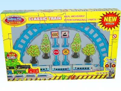 供应玩具电动拼装轨道火车2402