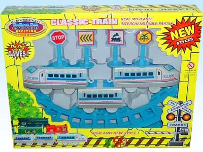 供应玩具电动拼装轨道火车2401