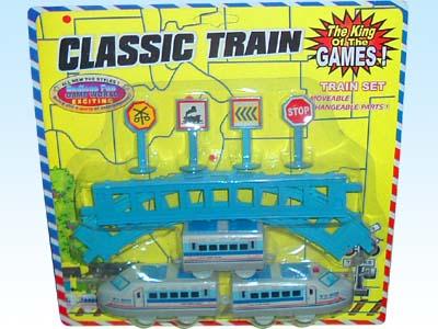 供应玩具电动拼装动物轨道火车2502