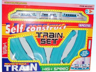 供应玩具电动拼装动物轨道火车2301