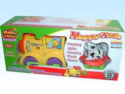 供应玩具电动、音乐、双灯光带动作拖拉火车