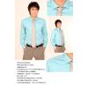 供应男士格子衬衫_型牌用3个尺寸就能网上定制衬衫