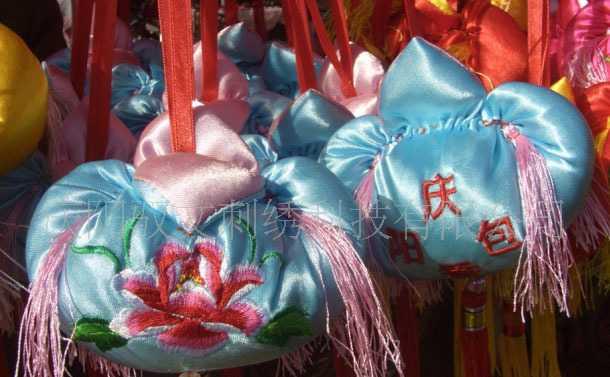 刺绣工艺品室内挂件香包 布艺挂件工艺品 旅游产品