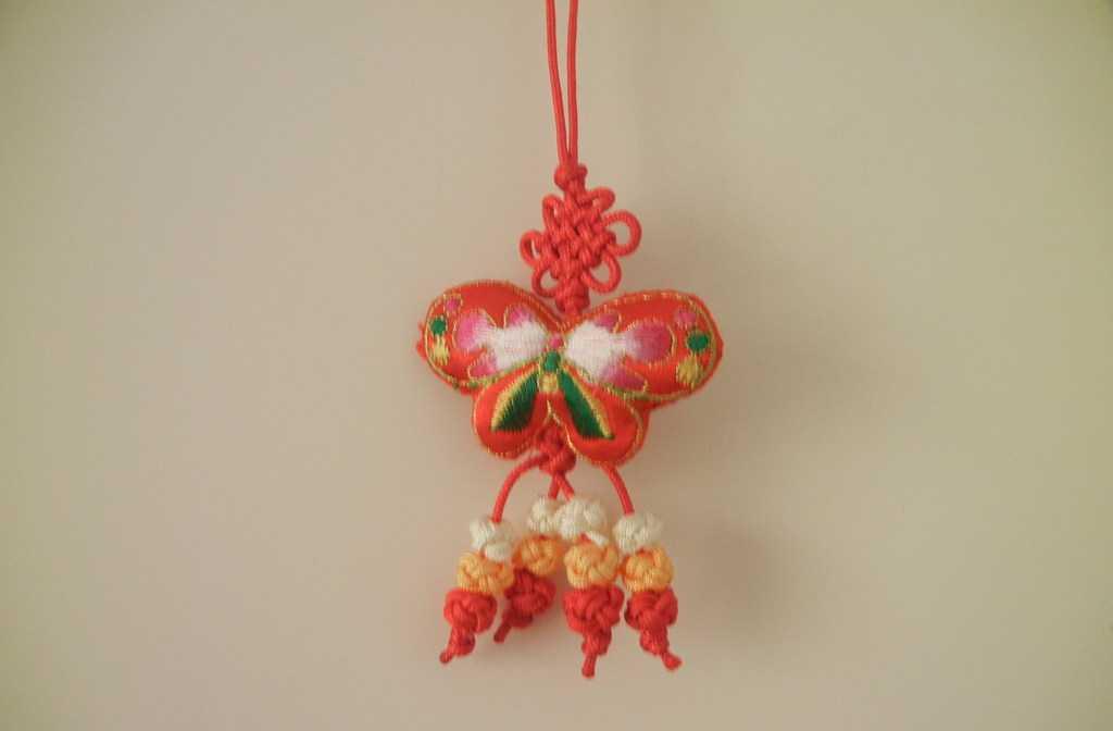 批发手工刺绣小挂件 布艺蝴蝶工艺品 旅游产品